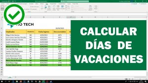miniatura de excel: cómo calcular los días de vacaciones para trabajadores