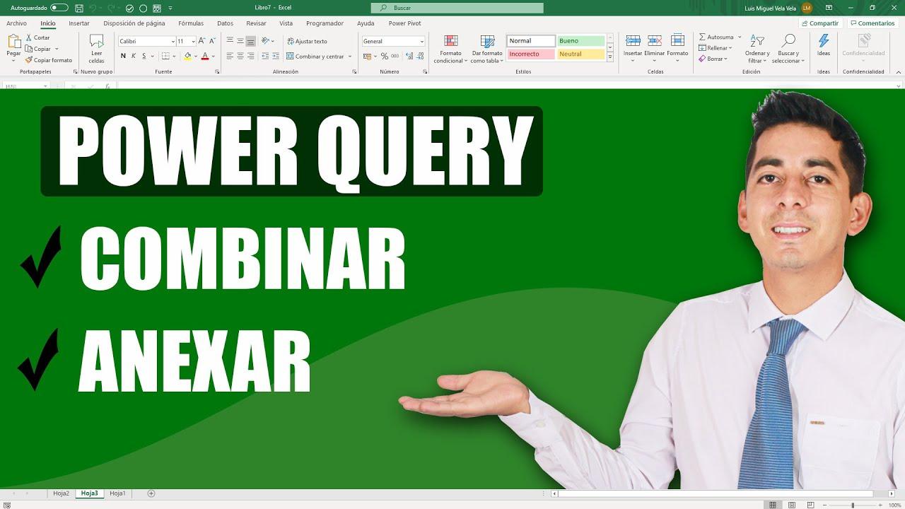 administrar datos con power query en excel
