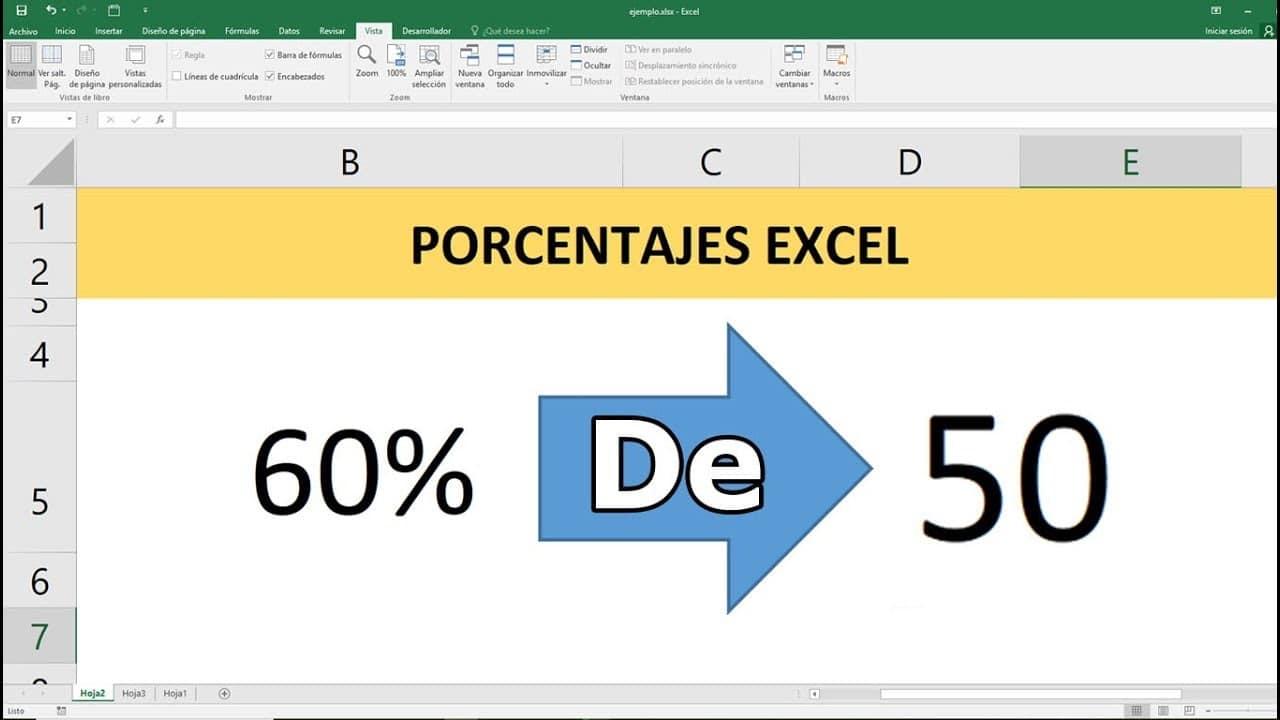 Porcentajes en Excel: Cómo se calculan y grafican