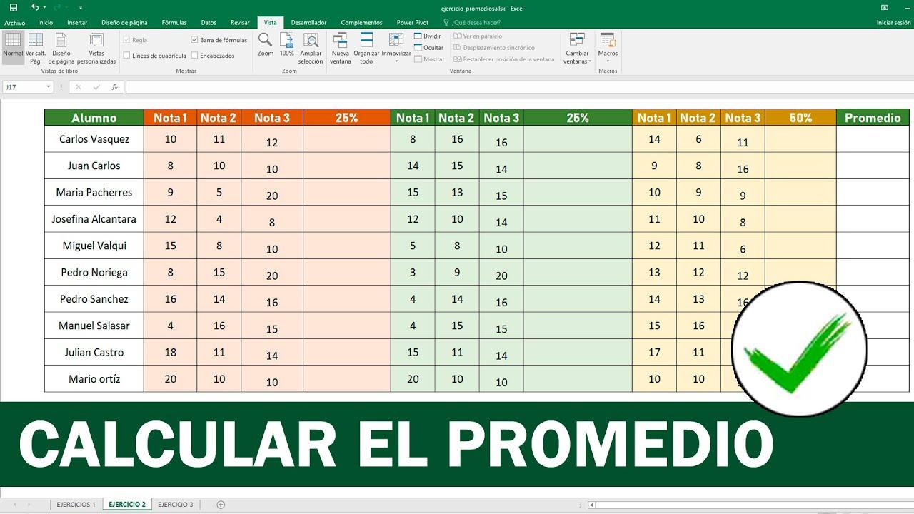 Cómo sacar promedio en Excel (Calcular Promedio)